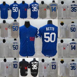 Özelleştirilmiş S-3XL Beyzbol Forması La All-Star oyunu Mens Bayan 35 Cody Bellinger 50 Mookie Betts 10 Justin Turner 13 Max Muncy Formalar