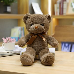 Girl's Favorite Gift 30CM Teddy Bear With Scarf Plush Toys Dolls New Year Birthday Best Gift