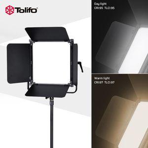 Tolifo GK-S100B PRO 900 LEDs CRI 95+ Bi-color LED Camera Photo Video Light Ultra Bright Photography studio Light with Barn-door