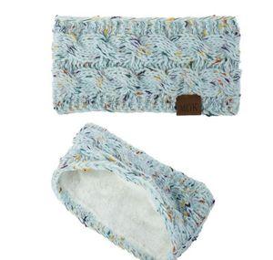 Knitted Headband Winter Women Lady Warmer Crochet Turban Head Wrap Plush Earflaps Elastic Headwrap Hairbands Ac bbyWcY bde_home