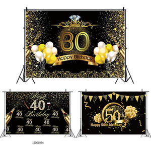 Birthday Background Decor Happy 30th 40th 50th Birthday Party Decor Adult 30 40 50 years Anniversary Party Supplies