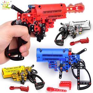 Huiqibao de tir Gun Game Signal Building Blocks Technic Arme Diy de briques Jouets éducatifs pour enfants Boy Gift 4color yxlDUG