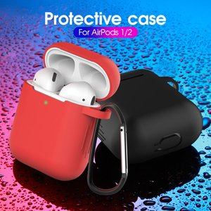 For Apple Airpods Cases Silicone Soft Ultra Thin Protector Airpod Cover Earpod Case Anti-drop With Hook Retail Box