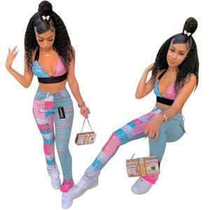Ladies emenda rasgado Jeans Fashion Trend Buraco mediana cintura magros Zipper Mulheres Denim Trousers Designer Autumn Feminino New Casual Hetero Jean
