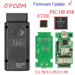 Может Обновление флэш прошивки Opcom 1 .99 1 .95 1 .70 Obd2 Can -Автобус Code Reader Для Op Com Op-Com диагностический PIC18F458 FTDI Chip