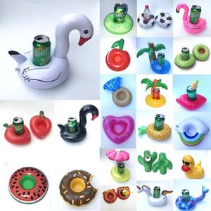 Держатели Надувная напиток держатель бассейн Кубок Float Holder Summer Flamingo арбуза Unicorn Water Cup Cola 33 цветов