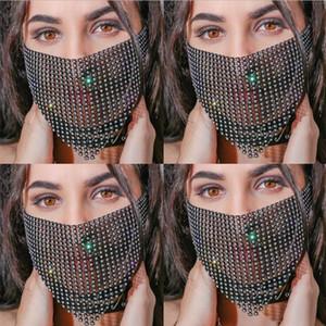 Gras Quaste Maske Gesichts-Halloween-Kette Schmuck Frauen-Partei venezianischer Karneval Maskerade für Masken Für Diskothek Glänzend Maske Kopfschmuck YP761 Meub