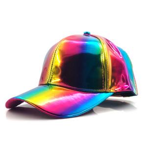 럭셔리 패션 힙합 모자 무지개 색상 모자 모자를 바꾸는 미래의 소품 Bigbang G-Dragon 야구 모자 Q1223