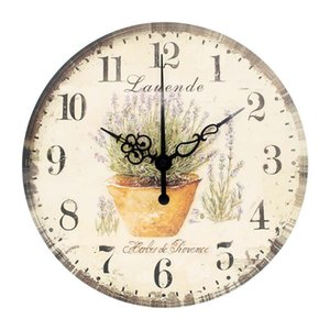 Large Wall Clock Home Decoration More Silent Wall Clock Vintage Shabby Chic Living Room Decoration Clocks