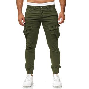 Fashion Cargo Pants Men's Pocket Stitching Solid Color Casual Leggings Trousers Men Joggers Hot Sale