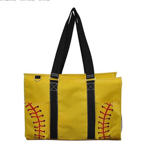 2021 squre Softball Baseball Handbag Large Travel Duffle Bag Canvas Designers Soccer Women Shopping Totes Sports Fittness Shoulder Bags