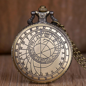 Vintage Compass surveying and engraving Quartz Pocket Watch Men Women Necklace Pendant Fob Watch Gifts for Men Kids