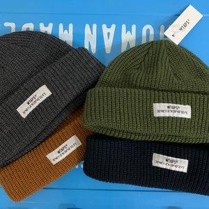 WTAPS Kısa Beanies Kış Şapkalar Kadınlar Için Erkekler Sonbahar Docker Brimless Caps Tasarımcı Toptan Bayanlar Aksesuarları Skullcap Moda Skullies
