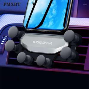 Монтажные держатели сотовых телефонов Гравитационные автомобильные держатель в воздухе Vent Auto Clip Mount No Magnety Mobile Поддержка Подставка для XS Smartphone Bracket1