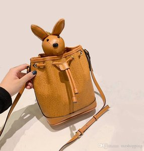 Visetos designer handbag 2019 New Fashion animal Draw string Bucket bag MYZ8AXL45 Women's Handbags Designer Small crossbody Shoulder Bags