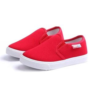 Mumoresip 2020 primavera otoño niños zapatos niños zapatillas de deporte de moda zapatos de lona casual para niños Tamaño 27-38 Slip-Ons Mocasines planos 1006
