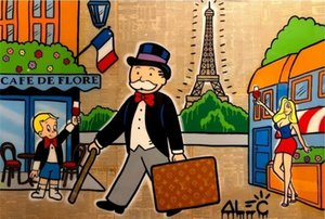 Alec граффити Картина масло Мультфильм Pop Art Poster Отпечатки Wall Art Canvas картинка Mural для гостиной Детской комнаты Домашнего украшения Куадроса