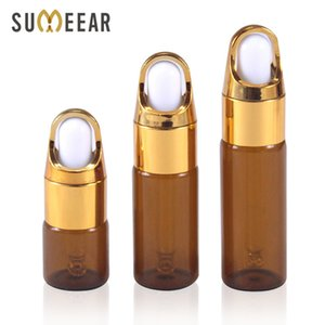 10 Piece Lot 5ml 10ml 15ml 20ml Essential Oil Bottles Portable Amber Glass Eye Dropper Bottle Empty Cosmetic Containers