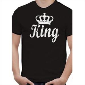 King Queen Letter Print T Shirt Couple Short Sleeve O Neck Loose Tshirt 2020 Summer Women Tee Shirt Tops Camisetas Mujer