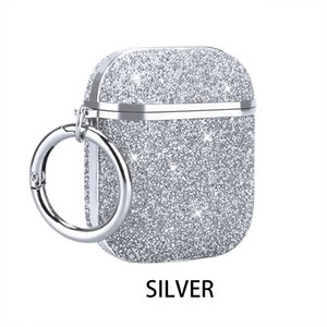 Bling Glitter Case For AirPods 1 2 Pro Cover Crystal Diamond Rhinestone Shiny Bling Sparkle Protective With Keychain Case Box Package
