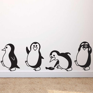 Cute Penguin Wall Sticker Home Decor Children's Room living Room Background Decoration Mural Art Decals Animal Stickers DHL Free