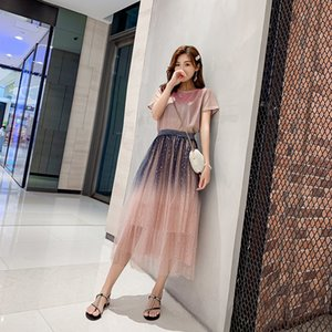 2021 New Bloated party 3 layer feminine fashion tulle skirt tutu wedding of bridesmaid petticoat plus size3xl gradient plied sequins OH3O