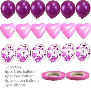 15pcs12 Inch Love Sequins Spot Latex Balloons Suitable for Wedding Birthday Party Decoration Children Holiday Supplies