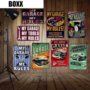 My Garage My Tools My Rules Vintage Home Wall Decor Pub Bar House Car Gas Oil Retro Tin Poster Hanging Plate Metal Signs