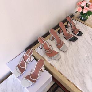2020 diamante ultra idraulico sandali bicchiere di vino romano testa quadrata tacco web celebrity versatile tacchi a spillo per la tendenza delle donne instagram
