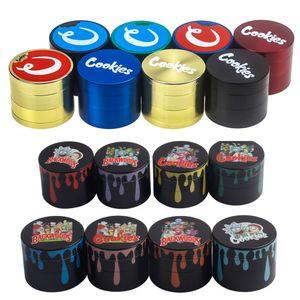 DHL 4 أجزاء معدنية عشبة مطحنة Coloful 40MM 50MM 55MM 63mm وعشبة التبغ التدخين مطحنة التوابل العشبية كسارة السجائر