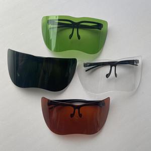Bouclier unisexe Miroir Garde Goggle demi-visage anti-voyeur Pare-soleil Lunettes de soleil antisolaires moto