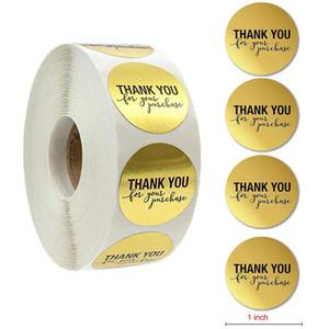 500pcs rolo de Ouro Obrigado etiqueta que Stickers Round presente DIY para Envelope Scrapbooking Diário planejador Álbuns Decoração jllmUJ garden_light