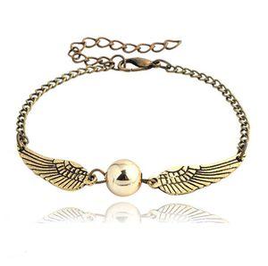 quidditch golden snitch pocket Bracelet Harry Charm bracelets wings Potter vintage retro tone for men and women wholesale 1523