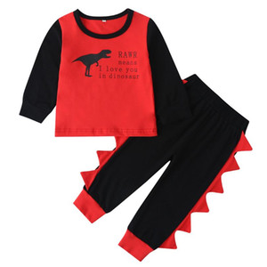 Toddler Baby Boys Clothes Dinosaur Long Sleeve T Shirt+Pants Kids Sportswear Clothes Children clothing spring and autumn kids designer clot