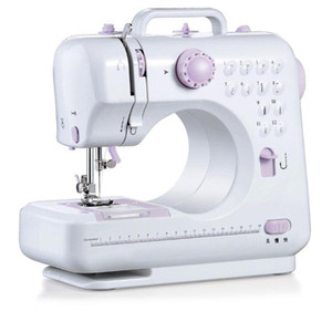 Portable Sewing Machine 7.2W Mini Electric Home Electric Sewing Machine Hand-Held Purple White ABS Automatic