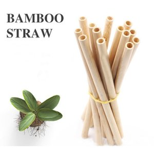 12 pcs / set réutilisable fête écologique cuisine paillettes bambou poches de boissons avec une brosse propre expédition we sqcmmm