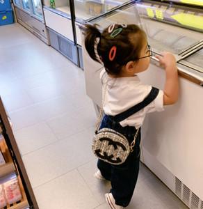 Lady Stil Mädchen Baumwolle Leinen Plaid Einzelner Umhängetasche Kinder Brief Metallkette Messenger Bag Designer Frauen Mini Geldbeutel A4843