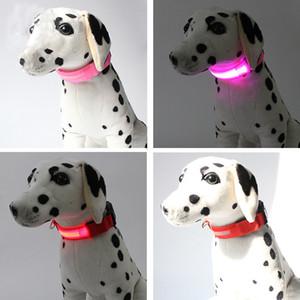 6Colors 4Sizes Night Safety LED Light Flashing Glow Nylon Pet Dog Collar Small Medium Dog Pet Leash Dog Collar Flashing Safety Collar