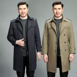 영국 방광 제거 할 수 있습니다 두꺼운 긴 무릎 도덕 사람을 육성으로했다 새로운 겨울 코트는 잘 생긴 남자 코트 바람