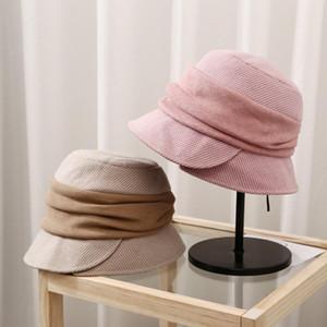 New classicelegance femaleplaid multi color patchwork floding retro casual fashion warm soft wear adjust bowler bucket hat