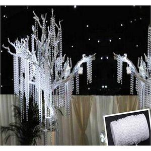 Party Supplie 30m Acrylic Crystal Beads Clear Diamond Fiesta de bodas Garland Chandelier Cortina Decoraciones Jllxtf LajiaOyard