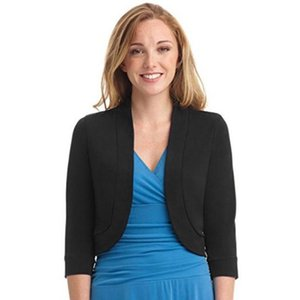Women Short Half Sleeve Solid Mini Office Work Cardigan Causal Plus Coat And Jackets Jean Slim Short Coat Jacket Feminina 9.26