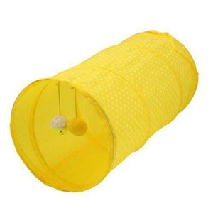 Practical Cat Foldable Tunnel Pet Play Games Funny Tubes Toys Indoor Outdoor Kitty Puppy Play Training Passage with Ball 0023PET