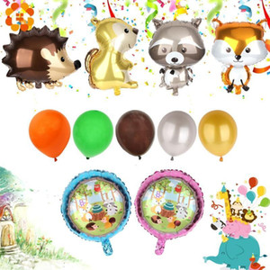 1 Set Hedgehog And Squirrel Foil Balloon Animal Birthday Party Decoration Adult BabyShower Decoration Ball Children Toys1