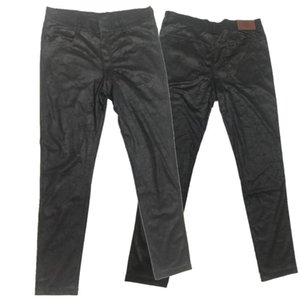 Sexy Streetwear Men Causal Leggings Tight Casual Pants Do Old Cowboy Prints High Stretch Skinny Leg Denim Trousers Pencil Pants