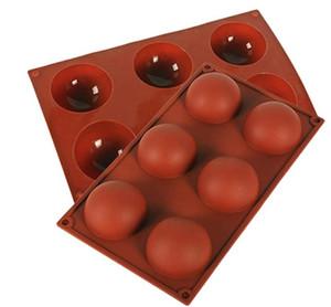 كبير 6 تجويف سيليكون قوالب جولة للخبز الشوكولاته آيس كيوب لايستيك قوالب هلام بودنغ كيك عموم علبة