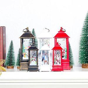 Christmas Decoration Candlestick Pendant Christmas Mini Table Lamp Decor Ornaments Christmas Creative Printed Gift Wind Light Swy wmtkNP