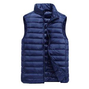 Zogaa Men's Sleeveless Coats Ultralight White Duck Down Warm Vest Mens Winter Casual Jackets Parkas Outwear Waistcoat Man