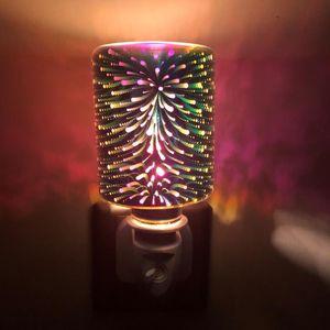 Explosivo navidad 3d colorido aromaterapia cera fusión de la lámpara insensible creativa aromaterapia sin humo desodorizante cera de fusión de la luz de la noche