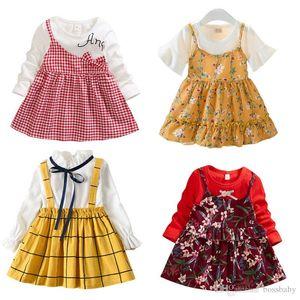 Kids Girl Floral Dress Toddler Little Flower A-line Dress Kids Casual Clothes Ruffler Dresses Infant Princess Dress Toddler Outfits 060326
